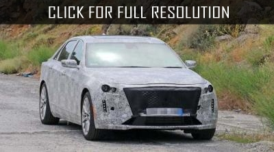 Cadillac CT6 2019 sedan was photographed during tests